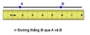 định nghĩa đường thằng và cách vẽ đường thẳng