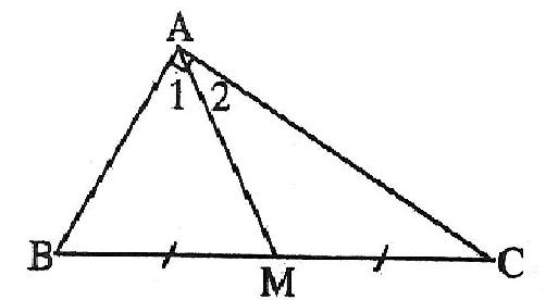 ví dụ đường trung tuyến trong tam giác vuông