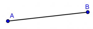 định nghĩa đường thẳng và đoạn thẳng ab