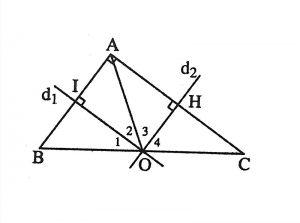 định nghĩa đường trung trực của tam giác và đường trung trực của tam giác vuông