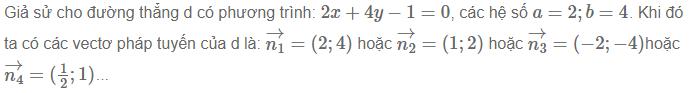 ví dụ về phương trình đường thẳng trong mặt phẳng