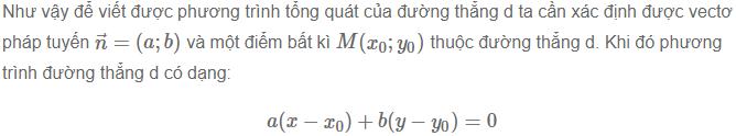 cách viết phương trình đường thẳng trong mặt phẳng
