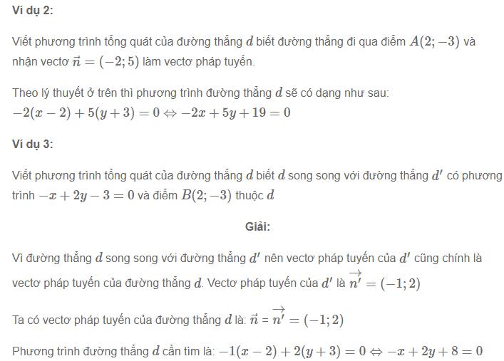 bài tập phương trình đường thẳng trong mặt phẳng