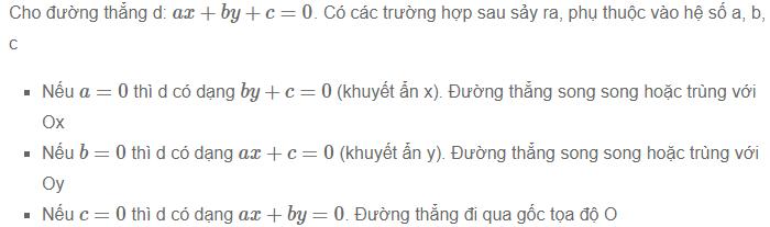 một số điển hình về phương trình đường thẳng trong mặt phẳng
