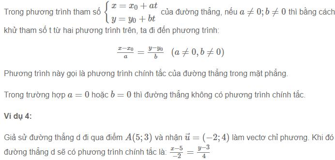 phương trình đường thẳng trong mặt phẳng và phương trình tham số