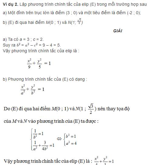 bài toán về phương trình elip là gì
