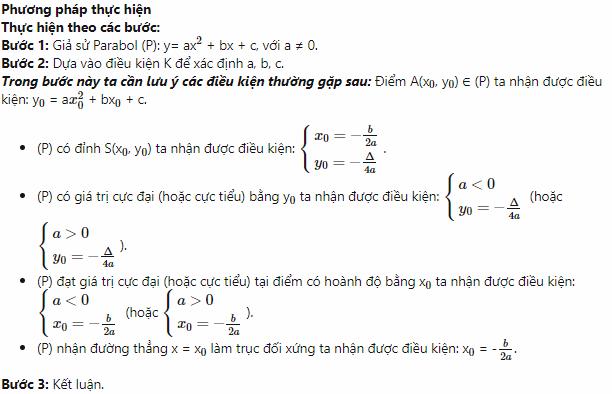 lý thuyết về phương trình parabol