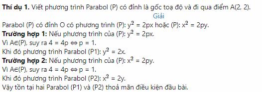 bài tập về phương trình parabol