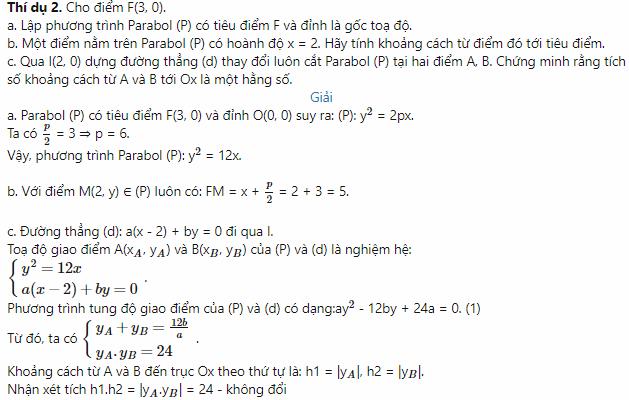 cách giải phương trình parabol