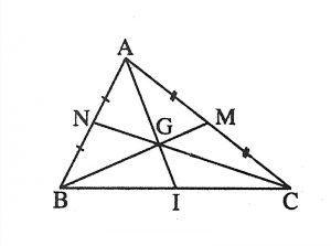 Tính chất đường trung tuyến trong tam giác