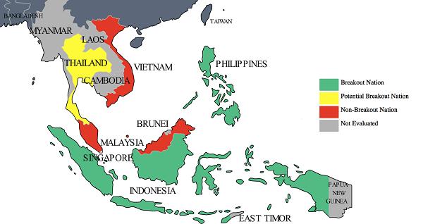 vị trí địa lý và lãnh thổ của khu vực đông nam á