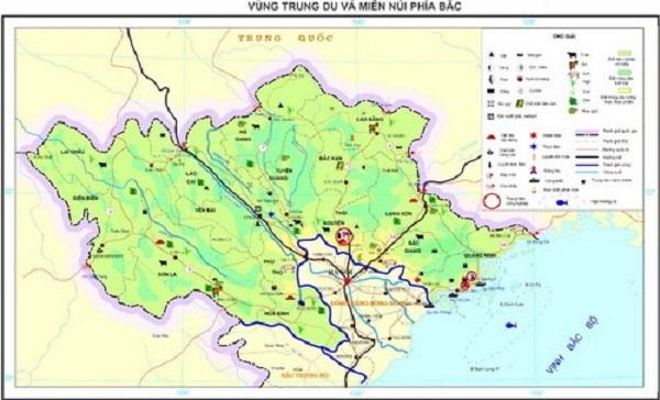 vị trí địa lý và giới hạn lãnh thổ của trung du và miền núi bắc bộ