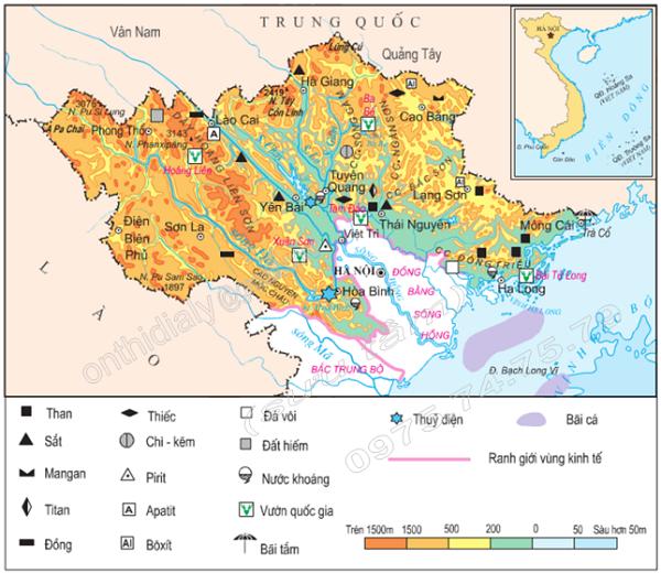 điều kiện tự nhiên và tài nguyên thiên nhiên của trung du và miền núi bắc bộ