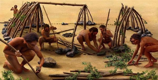 người tinh khôn dùng đá làm công cụ lao động trong xã hội nguyên thủy