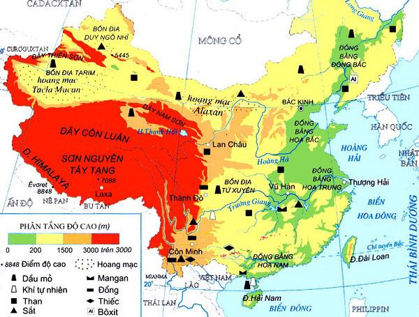 cộng hòa nhân dân trung hoa và vị trí địa lý
