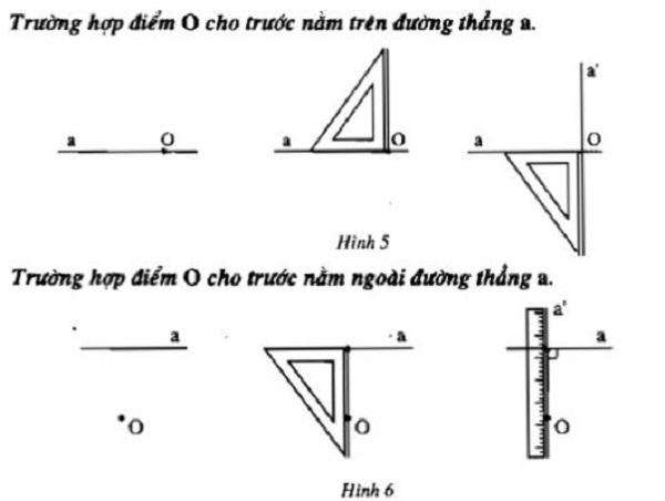 hai đường thẳng vuông góc lớp 7 và vẽ hai đường thẳng vuông góc