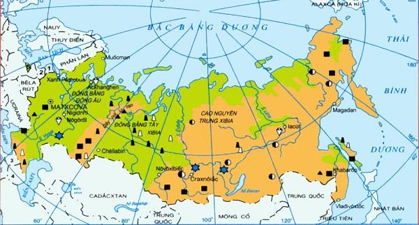 liên bang nga và vị trí địa lý