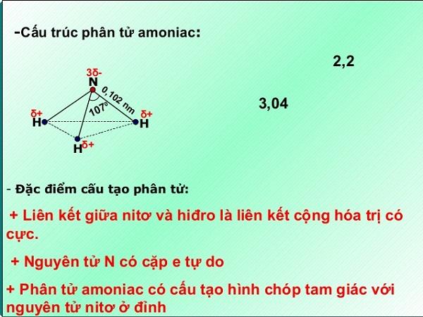 amoniac là chất gì và tính chất của amoniac