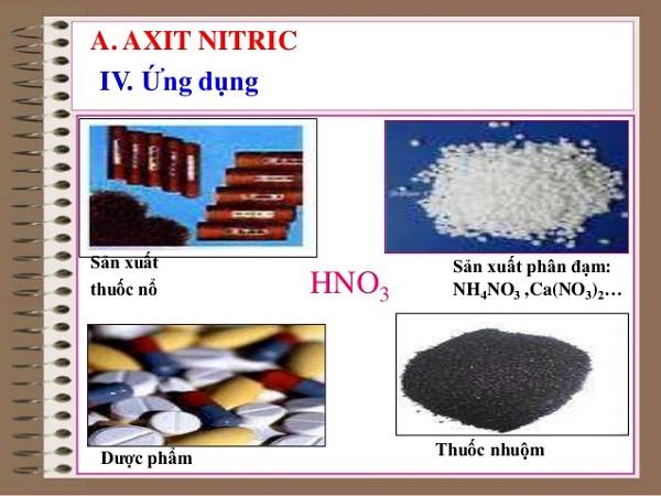 axit nitric và muối nitrat với những ứng dụng thực tế trong đời sống