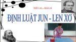 định luật Jun-len-xơ là một định luật vật lý quan trọng