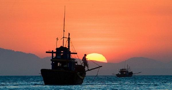 hình ảnh đoàn thuyền đánh cá trở về khi bình minh khi soạn bài đoàn thuyền đánh cá