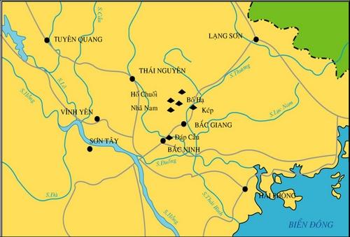 khởi nghĩa yên thế lịch sử 11 và bản đồ hoạt động của phong trào