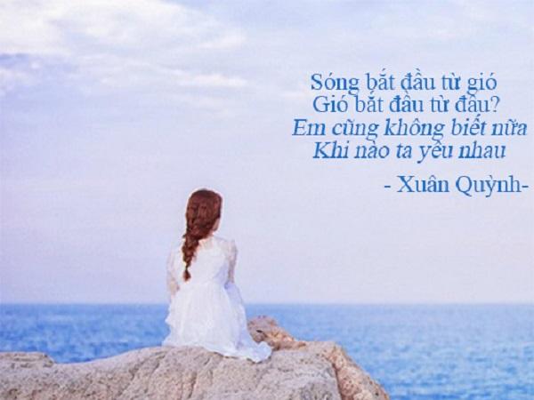 tình yêu và khát vọng của nhà thơ trong sóng xuân quỳnh