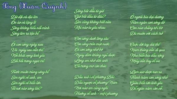phân tích hình tượng sóng và tình yêu trong bài thơ sóng xuân quỳnh