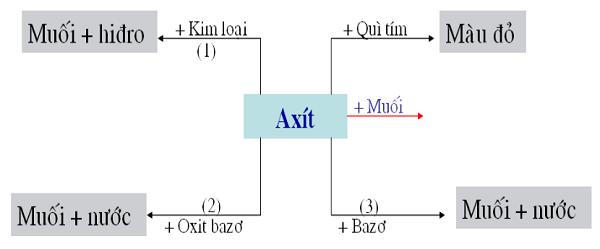 tính chất hóa học của axit và khi tác dụng với bazo