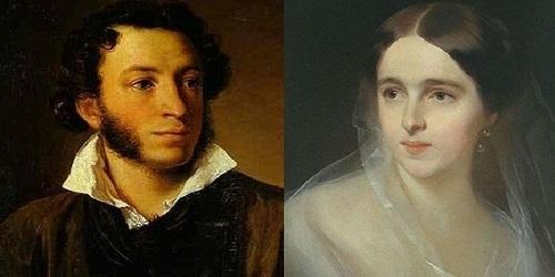 tôi yêu em puskin và hình ảnh về hai nhân vật chính trong bài thơ