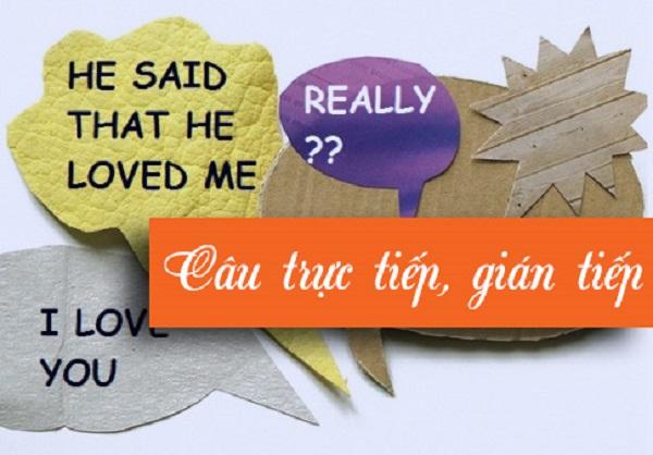 chuyển từ câu trực tiếp sang gián tiếp và khái niệm về hai loại câu trực tiếp gián tiếp