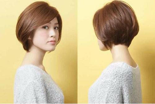 tóc tém đẹp kiểu mái dài thanh lịch và trẻ trung