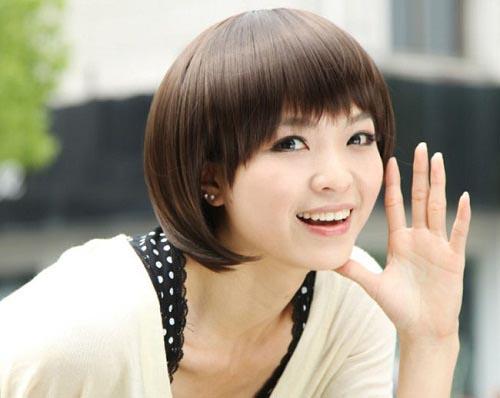 tóc tém đẹp cho mặt vuông trở nên thon gọn và xinh đẹp