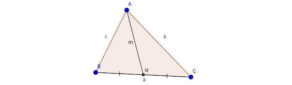 định lý đường trung tuyến với hệ thức lượng trong tam giác