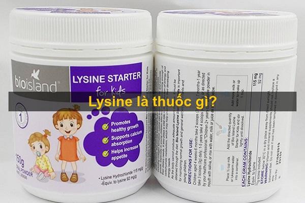 l-lysine là gì và hình ảnh minh họa