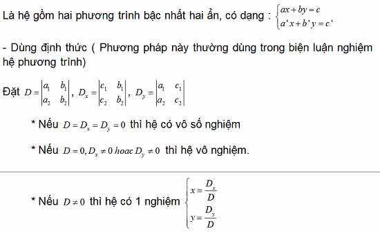 hình ảnh về cách giải hệ phương trình 2 ẩn