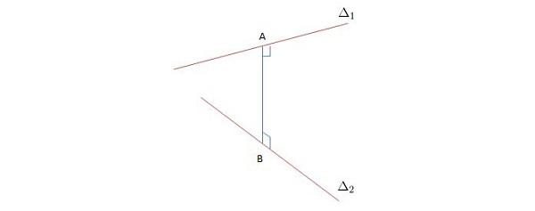 khoảng cách giữa 2 đường thẳng trong mặt phẳng