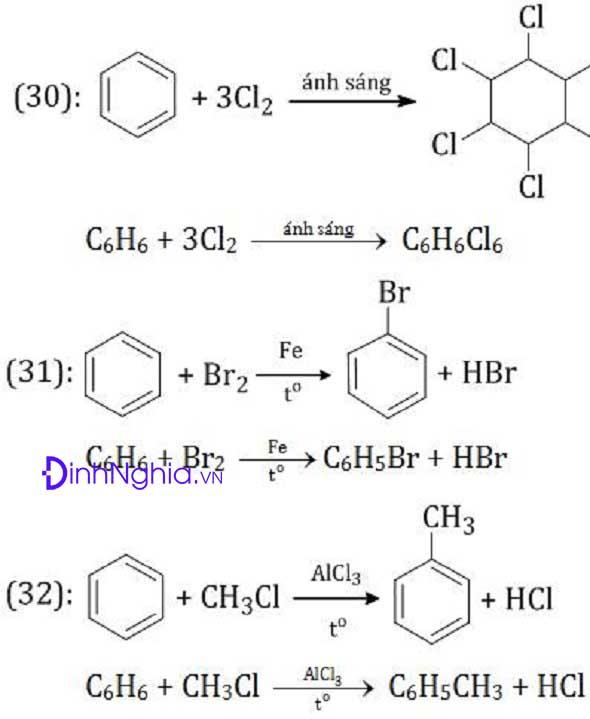 ví dụ về phản ứng hóa học hữu cơ 3