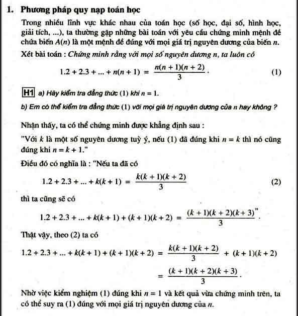 hình ảnh phương pháp quy nạp toán học