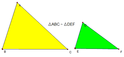 tam giác đồng dạng và các trường hợp đồng dạng của tam giác thường