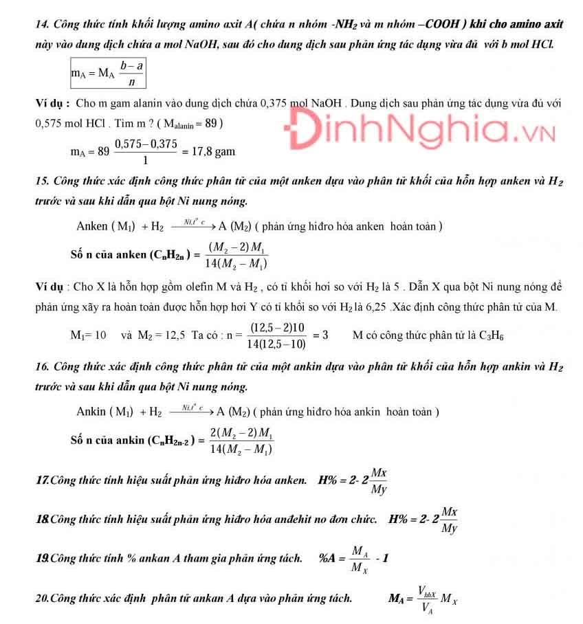 công thức hóa học 12 và hình ảnh 4