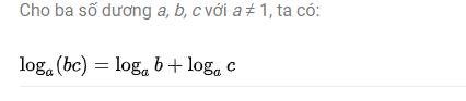 tìm hiểu công thức logarit