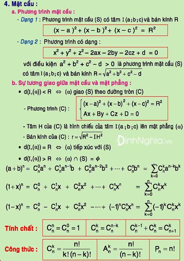 tổng hợp công thức toán 12 hình ảnh 17