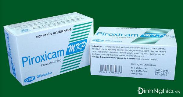 cách sử dụng piroxicam 20mg