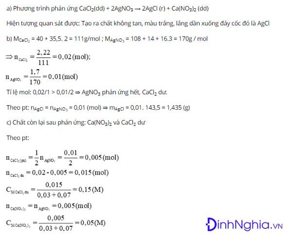 tìm hiểu về tính chất hóa học của muối