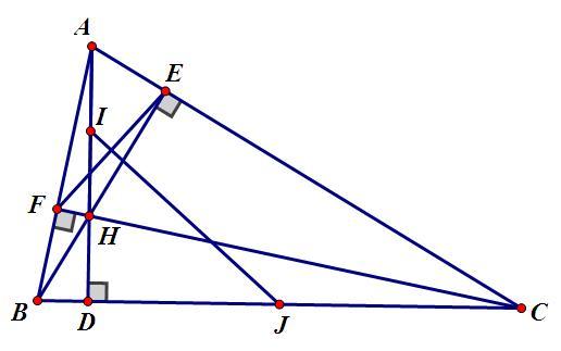 ví dụ về tính chất trực tâm trong tam giác