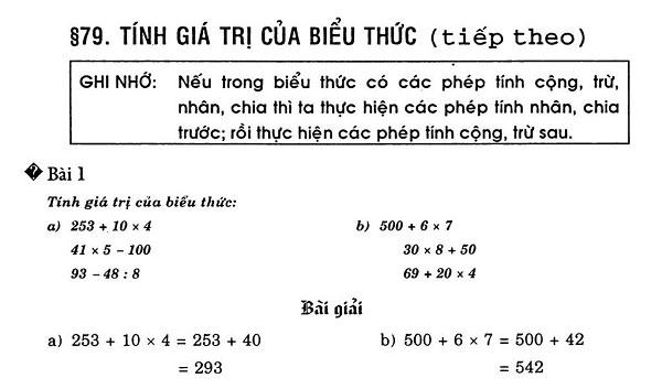 các dạng toán tính giá trị của biểu thức và cách giải