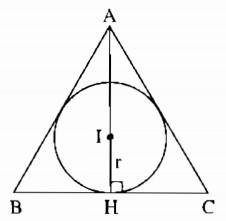 công thức tính diện tích tam giác đều abc ngoại tiếp đường tròn