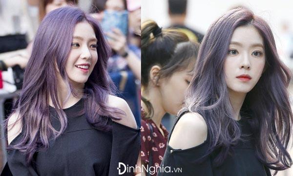 cách nhuộm tóc màu tím trầm
