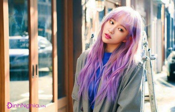 cách nhuộm tóc màu tím hồng